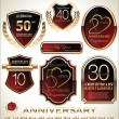 Anniversary labels — Stock Vector #33721891
