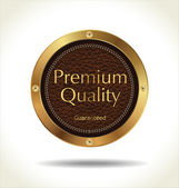 Premium quality Leather badge — Stock Vector