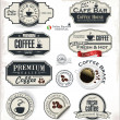 Coffee badge and labels — Stock Vector