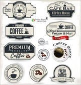 Coffee badge and labels — Wektor stockowy