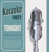 Karaoke retro night background — Stock Vector