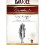Karaoke certificate template — Stock Vector
