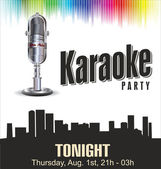 Karaoke party colorful background — Stock Vector