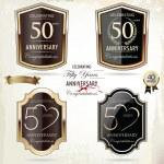50 years anniversary golden label — Stock Vector #34317173