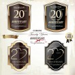 20 years anniversary golden label — Vektorgrafik