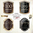 100 years anniversary golden label — Stock Vector #34317365