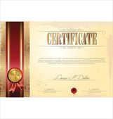 Certificate or diploma template, vector illustration — Stok Vektör
