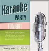 Karaoke party background — Stock Vector