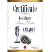 Karaoke certificate template, best singer — Vecteur