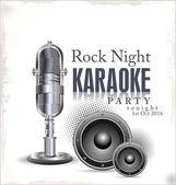 Karaoke background — Stock Vector