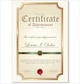 Ilustração de ouro certificado detalhado — Vetor de Stock