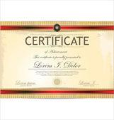 Zertifikatvorlage — Stockvektor