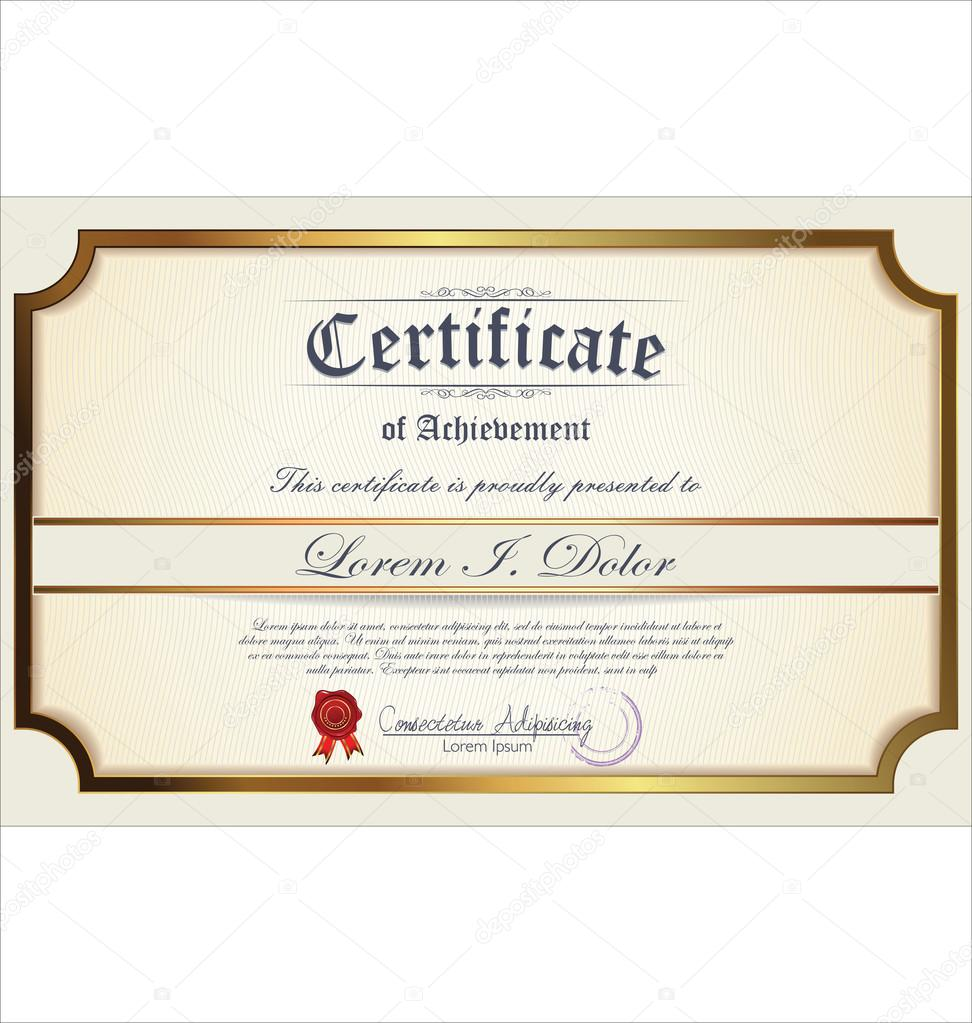 Certificate Of Deposit Template