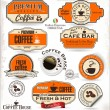Coffee labels and badges — Stockvectorbeeld