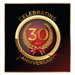 Stock Vector: 30 years Anniversary label