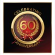 Stock Vector: 60 years Anniversary label