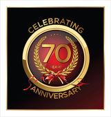Anniversary label — Stock Vector