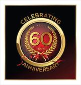 60 let výročí popisek — Stock vektor