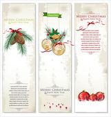 Set of three Christmas banners — Stock Vector