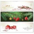Merry Christmas banners set design — Stock Vector #36044125