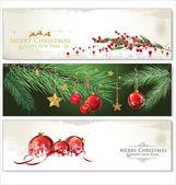 Frohe weihnachten-banner-set-design — Stockvektor