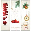 Merry Christmas banner vertical background — Stock Vector #36111163