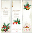 Merry Christmas banner vertical background — Stock Vector #36111169