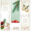 Stock Vector: Merry Christmas banner vertical background