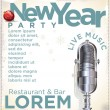 New Year party poster — Stok Vektör