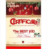 Certificate template, the best kid — Stock Vector