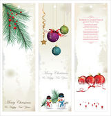 Christmas banner, set — Vector de stock