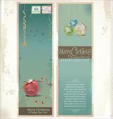 Merry Christmas retro banner, set — Vecteur