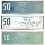 50 years Anniversary black background — Stock Vector #36791263