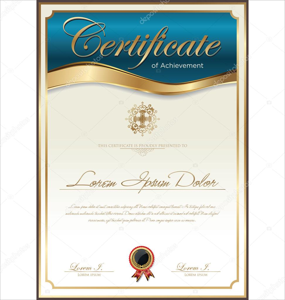 Certificate template — Stock Vector © totallyout #36793571