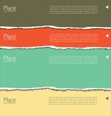 Fondo de papel rasgado con espacio para texto — Vector de stock