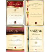 Certificate template, set — Stockvector