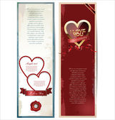 Valentine's day retro background — Stock Vector