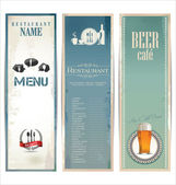 Restaurant menu design with vintage label — Stockvector