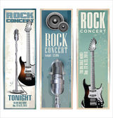 Rock concert poster — Stock Vector