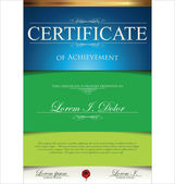 Green and blue certificate template — Stockvector