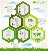 Diseño ecología moderna — Vector de stock