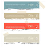 Gescheurd papier achtergrond met ruimte voor tekst — Stockvector