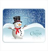 Vector christmas snowman — Stock Vector
