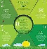 Modern ecology Design Layout — Vector de stock