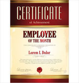 Diploma, employee of the year — Vector de stock