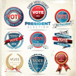 Stock Vector: Election badges and labels