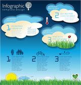 écologie moderne conception mise en page — Vecteur