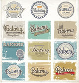 Collections of bakery design elements — Stock Vector