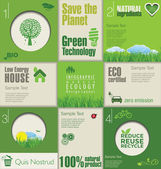 Layout design moderno ecologia — Vettoriale Stock