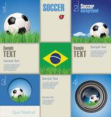 Modern soccer background — Stock Vector